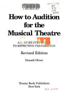 How to Audition for the Musical Theatre Book PDF