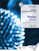 Cambridge International AS and a Level Physics Student's Book 3rd Edition