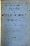 bibliotheque diplomatique comte d'angeberg le congres de vienne et les traites de 1815