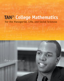 College Mathematics for the Managerial  Life  and Social Sciences Book PDF