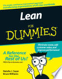 """Lean For Dummies"" by Natalie J. Sayer, Bruce Williams"
