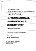 Ulrich s International Periodicals Directory