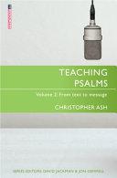 Teaching Psalms Vol  2