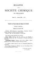 Pdf Bulletin Des Sociétés Chimiques Belges
