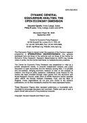 Dynamic General Equilibrium Analysis Book