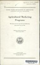 Agricultural Marketing Programs