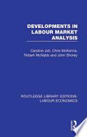 Developments in Labour Market Analysis