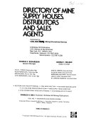 Directory of Mine Supply Houses  Distributors and Sales Agents