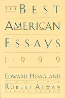 The Best American Essays 1999 Book