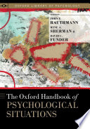 The Oxford Handbook of Psychological Situations Book
