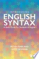 Introducing English Syntax