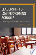 Leadership For Low Performing Schools Book