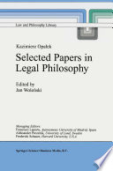 Kazimierz Opałek Selected Papers in Legal Philosophy