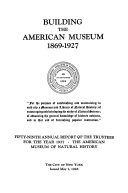 Building the American Museum  1869 1927    Book