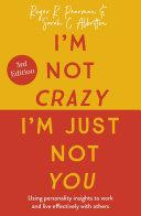 I'm Not Crazy, I'm Just Not You [Pdf/ePub] eBook