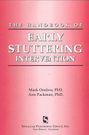 The Handbook Of Early Stuttering Intervention Book