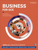Cover of Business for Qce Units 1 & 2