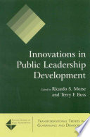 Innovations in Public Leadership Development Book