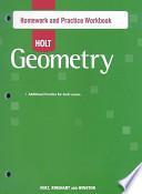 Holt Geometry Homework and Practice Workbook