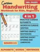 Cursive Handwriting Workbook for Kids Beginners