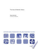 The Idea Of Atlantic History Oxford Bibliographies Online Research Guide