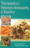 Therapeutics of Veterinary Homeopathy   Repertory