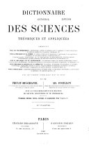 Dictionnaire général des sciences théoriques et appliquées