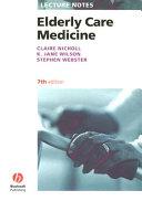 Lecture Notes Elderly Care Medicine