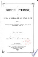 The Horticulturist and Journal of Rural Art and Rural Taste Book