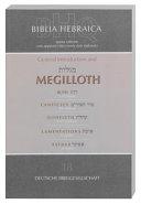 Biblia Hebraica Quinta First Fascicle, General Intro and Megilloth