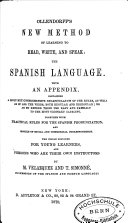 Spanish New Method of Learning to Read  Write and Speak