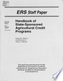 Handbook of State sponsored Agricultural Credit Programs