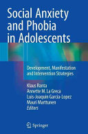 Social Anxiety and Phobia in Adolescents Book