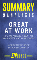 Summary   Analysis of Great at Work