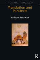 Translation and Paratexts Pdf/ePub eBook