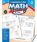 Common Core Math 4 Today  Grade 3 Book