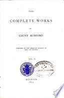 The Complete Works of Count Rumford Book