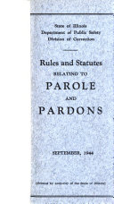Rules And Statutes Relating To Parole And Pardons