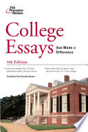 """""""College Essays that Made a Difference, 4th Edition"""" by Princeton Review"""