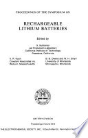 Proceedings of the Symposium on Rechargeable Lithium Batteries