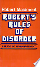 Robert S Rules Of Disorder Book PDF