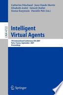 Intelligent Virtual Agents Book