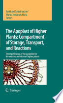 The Apoplast of Higher Plants  Compartment of Storage  Transport and Reactions Book