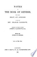 Notes On The Book Of Genesis Notes On The Book Of Genesis