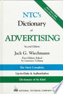 NTC's Dictionary of Advertising