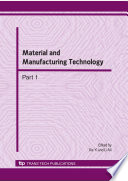 Material And Manufacturing Technology Book PDF