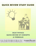MCAT Physics Quick Review of Concepts and Formulas