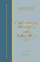Conferences, Messages, and Fellowship (1) [Pdf/ePub] eBook