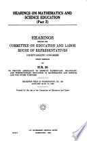 Hearings on Mathematics and Science Education