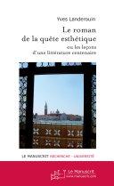 Pdf Le roman de la quête esthétique Telecharger